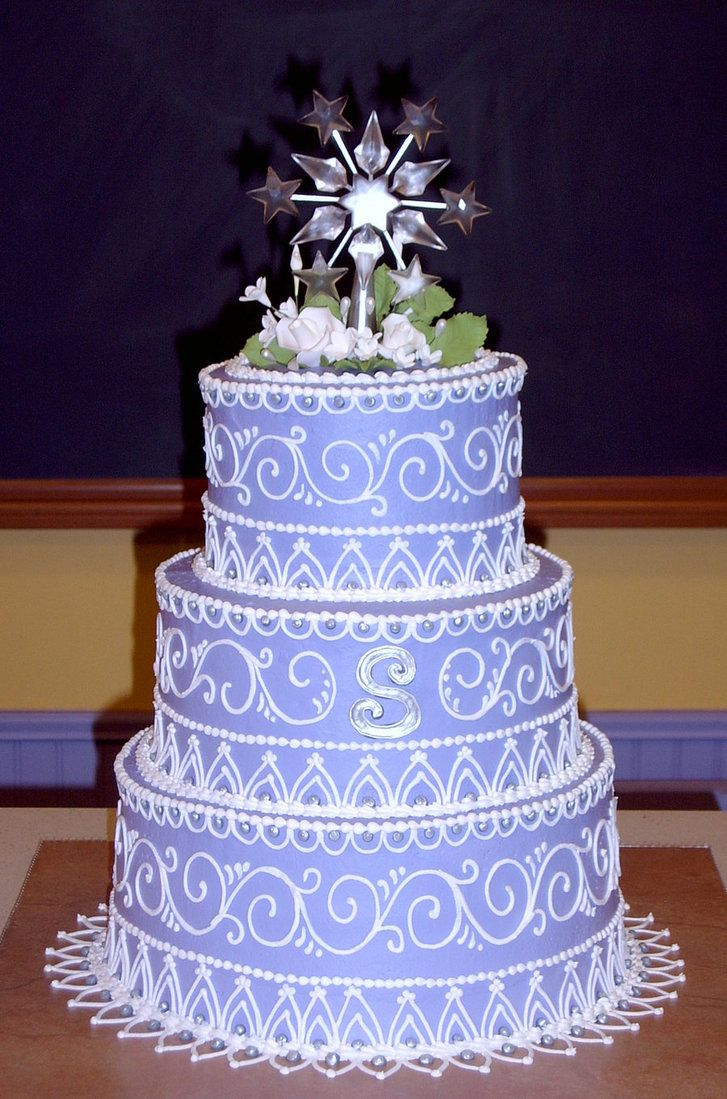 Purple Sweet Sixteen Cake