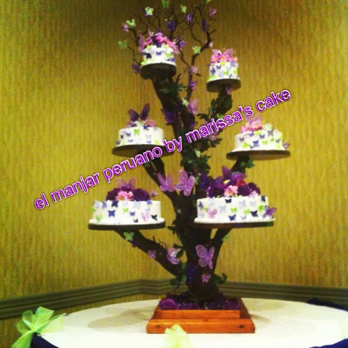 12 Photos of Tree Branch With Butterfly Cakes