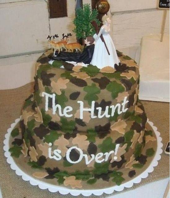 12 Photos of Real Weddings Wedding Cakes Pictures Camo Form
