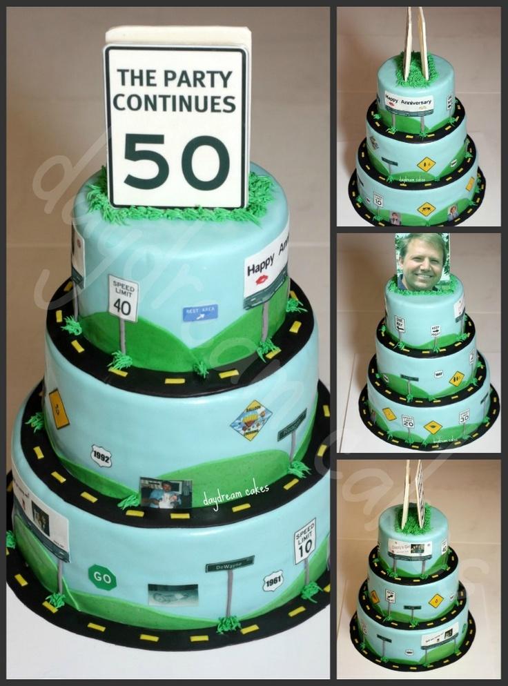 Road of Life Birthday Cake