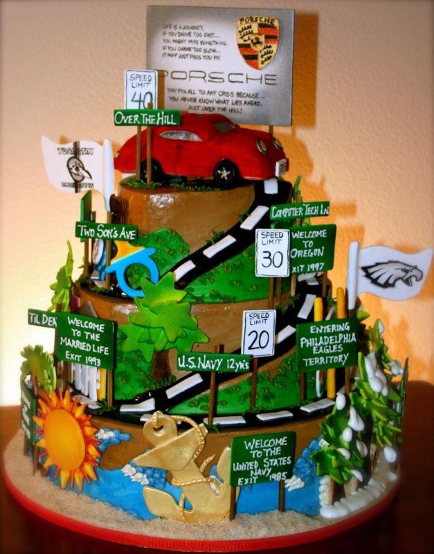 Road Trip Birthday Cake