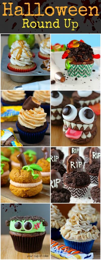 Round Halloween Cakes Cupcakes