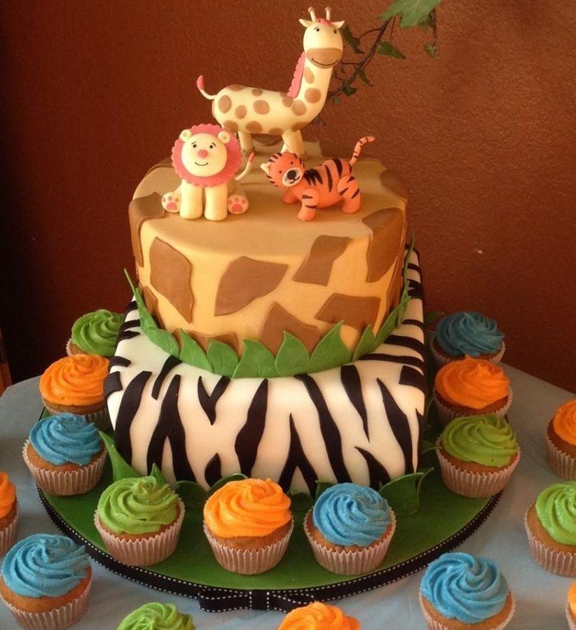 Safari Theme Baby Shower Cake