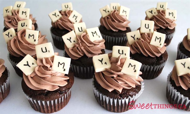 Scrabble Themed Cupcakes