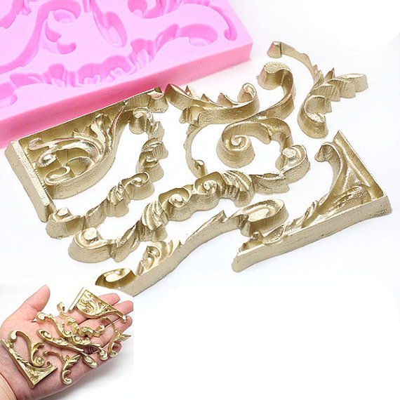 Scroll Molds for Wedding Cakes