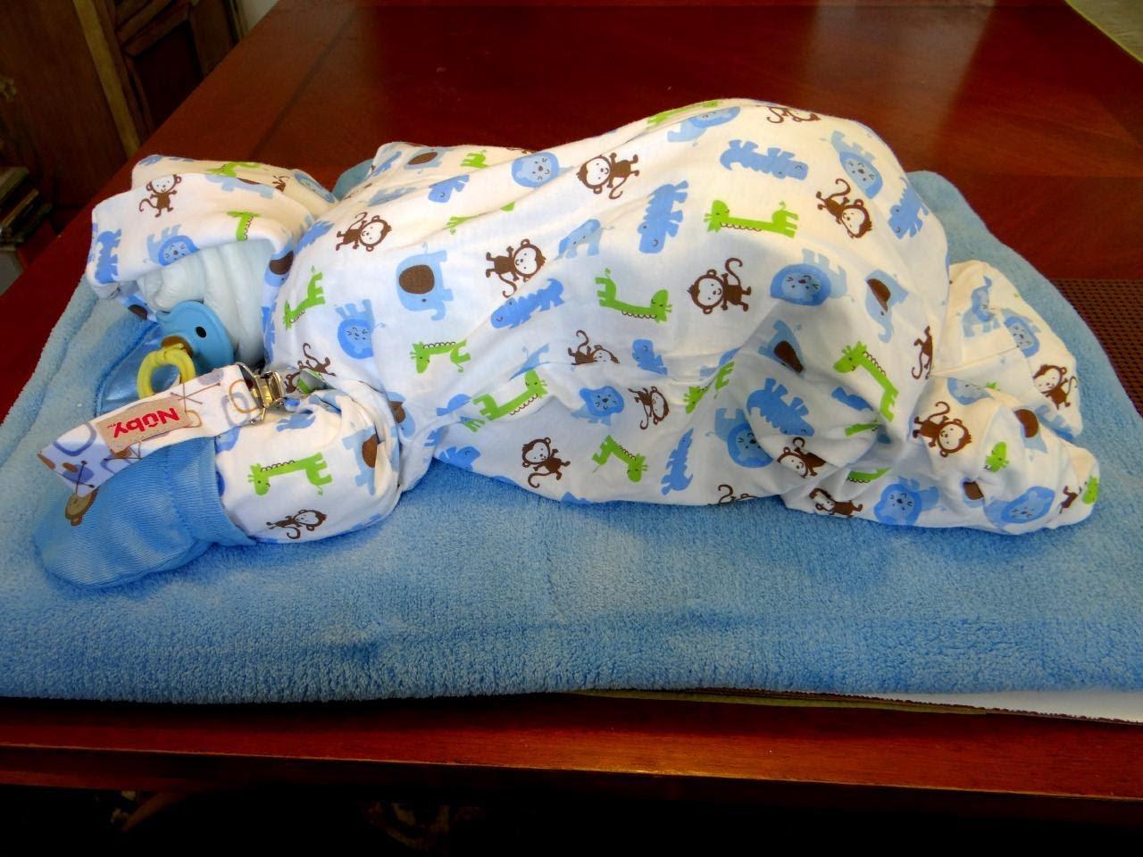 Sleeping Baby Diaper Cake Tutorial