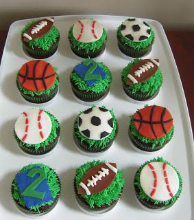 8 Photos of Easy To Make Sports Cupcakes