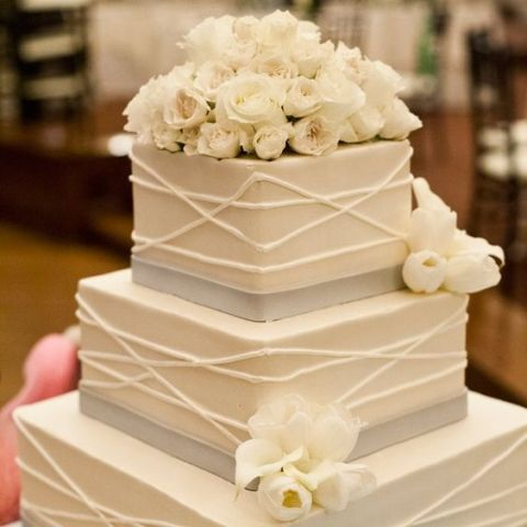 Square Wedding Cake Idea