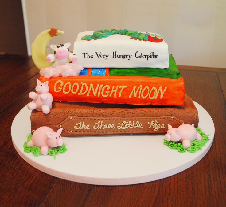 Storybook Baby Shower Cake