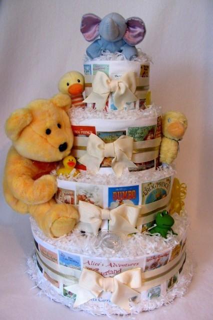 Storybook Baby Shower Diaper Cake