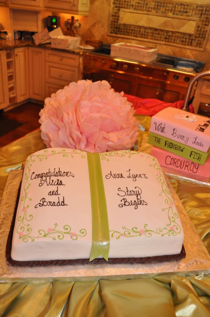 Storybook Theme Baby Shower Cake