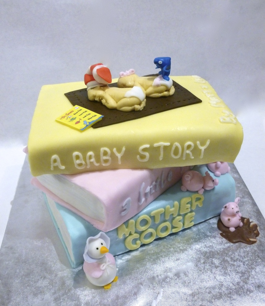 Storybook Themed Baby Shower Cake