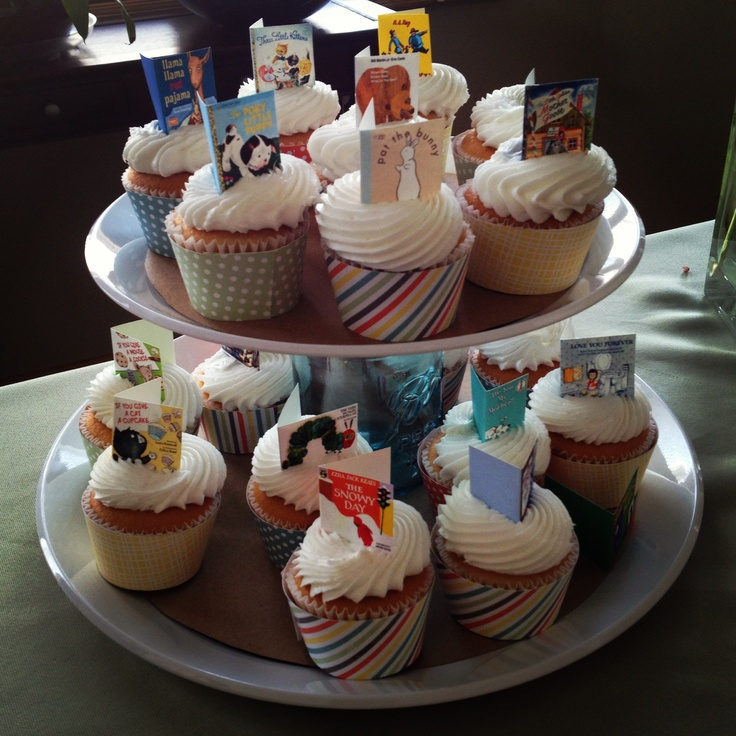 Storybook Themed Baby Shower Cupcake Toppers For