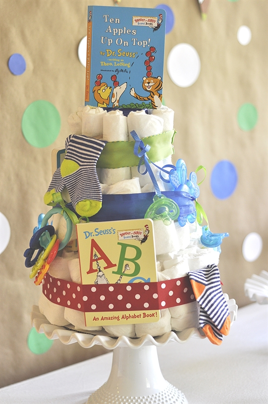 Storybook Themed Baby Shower Diaper Cakes