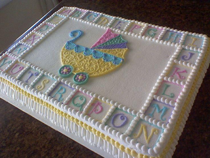 Stroller Baby Shower Sheet Cake