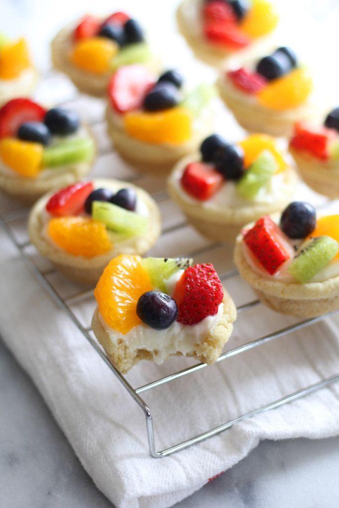 Sugar Cookie Fruit Tarts Mini