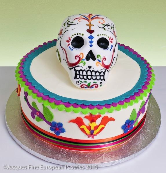 Sugar Skull Birthday Cake
