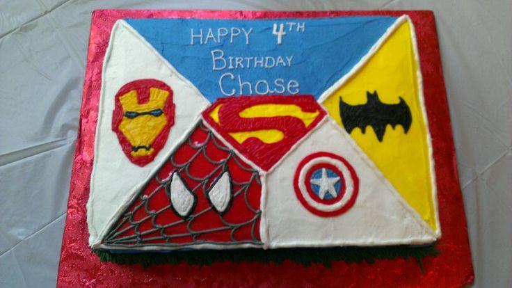 Super Hero Sheet Cake