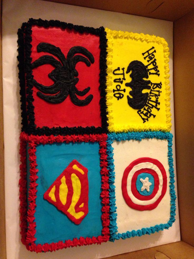Superhero Birthday Sheet Cake