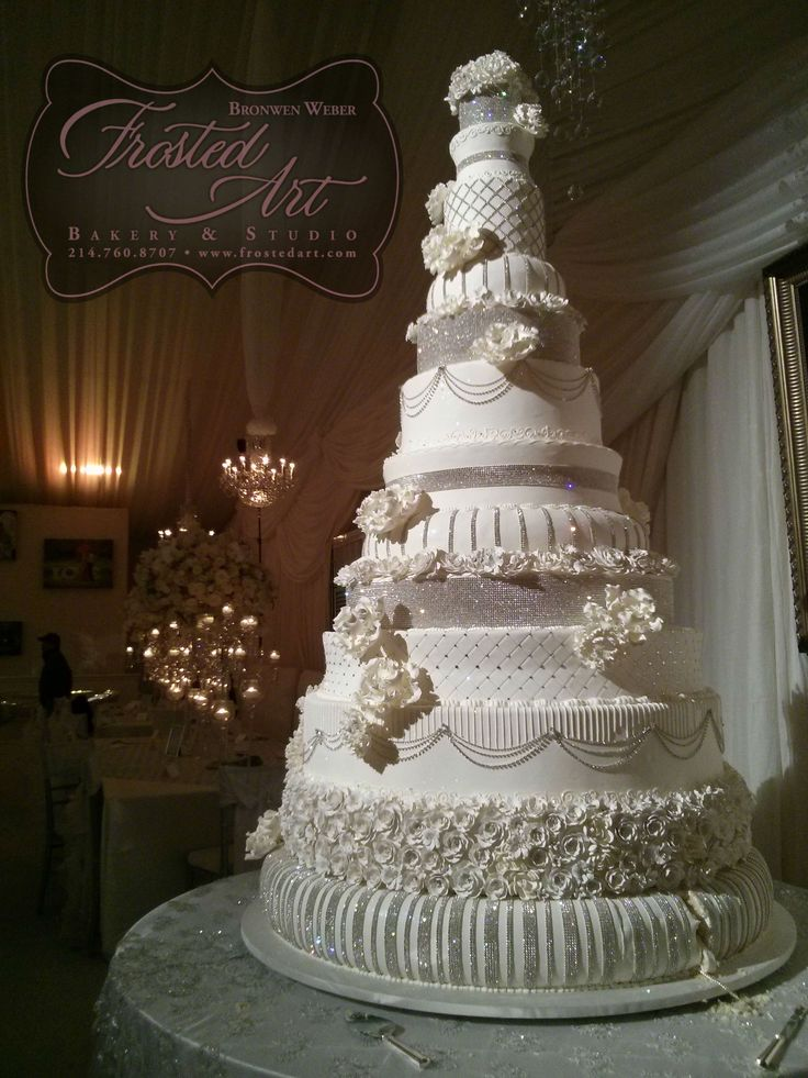 8 Photos of Outrageous Wedding Cakes Bling