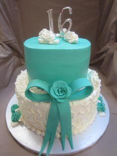 Tiffany Blue Sweet 16 Cake