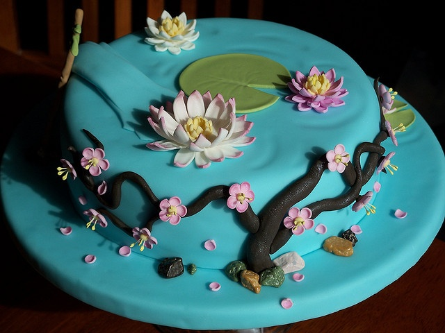 Tree Cherry Blossom Decorated Cake