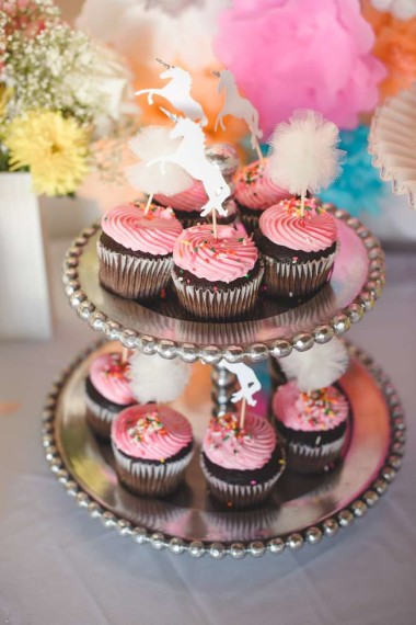 6 Photos of Unicorn Baby Shower Cupcakes