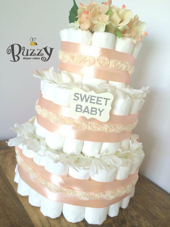 Vintage Baby Shower Diaper Cake