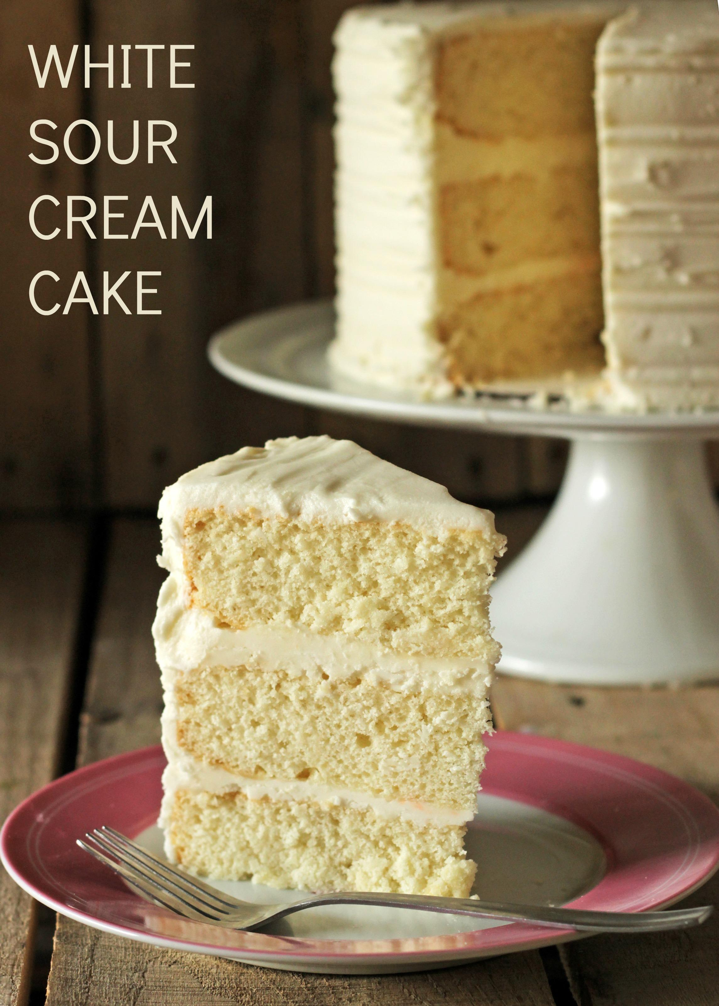 White Cake Recipe Sour Cream