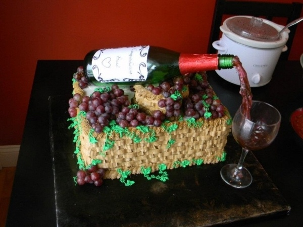 Wine Bridal Shower Cake