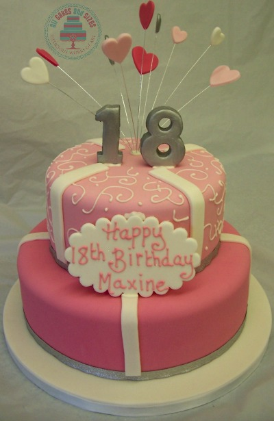 2 Tier 18th Birthday Cake