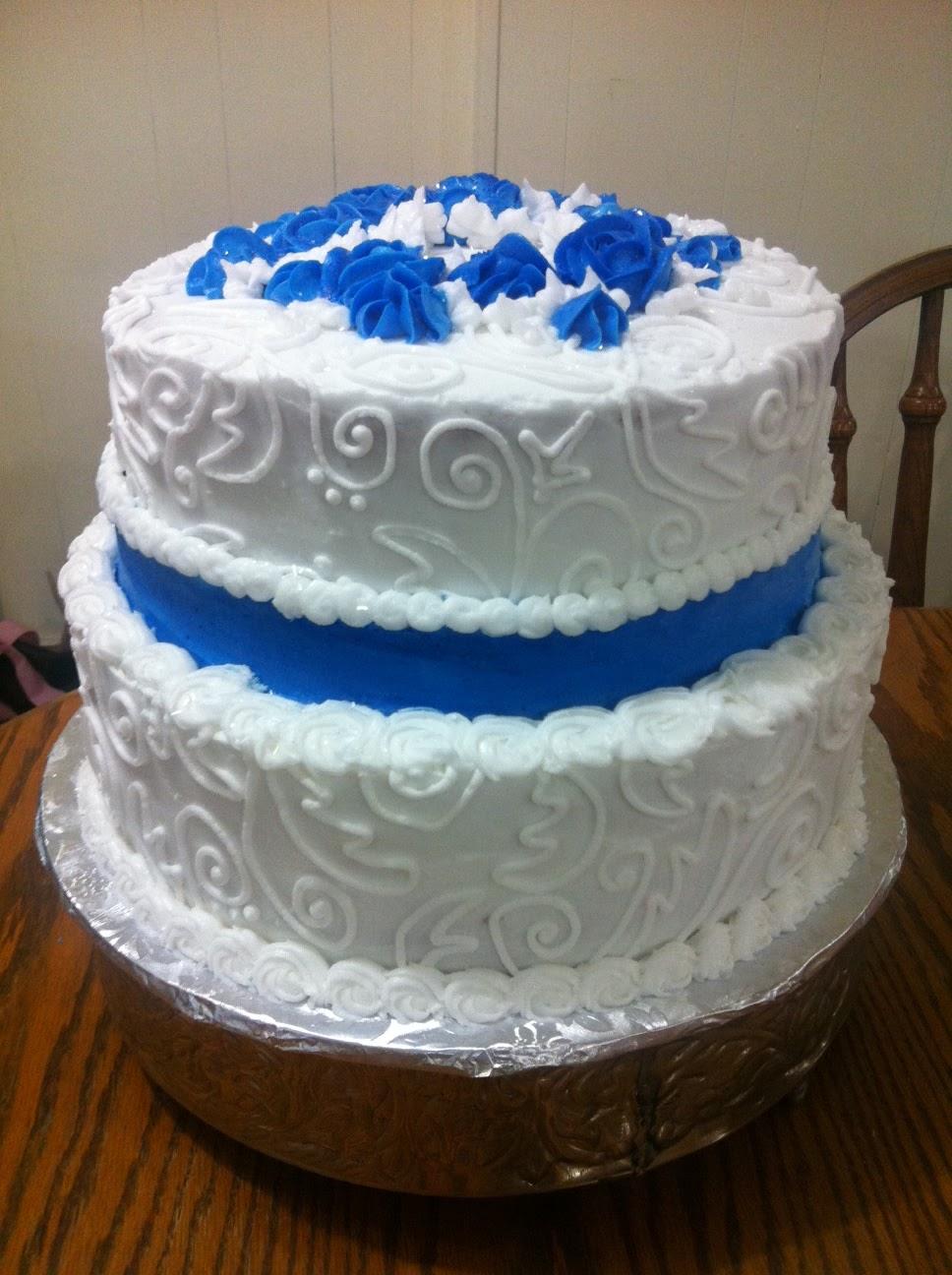 2 Tier Wedding Cake Blue
