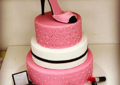 3 Tier Makeup Birthday Cakes