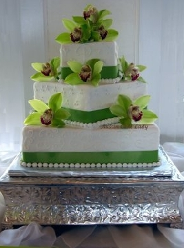3 Tier Square Wedding Cake