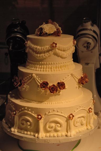 3 Tier White Buttercream Wedding Cake
