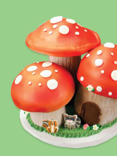 Animal and Mushroom Cake