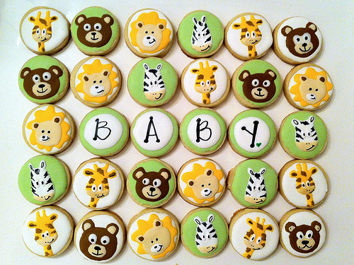 Animal Baby Shower Cupcake Toppers