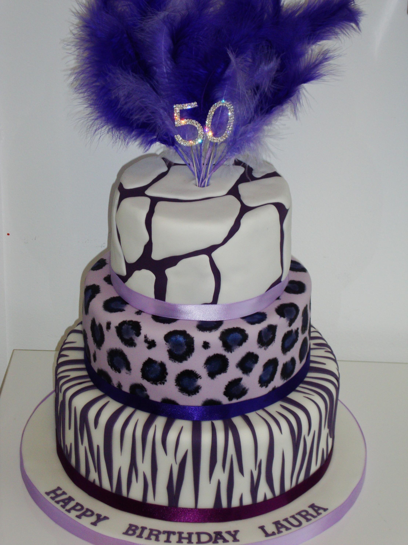 Animal Print 3 Tiered Cake