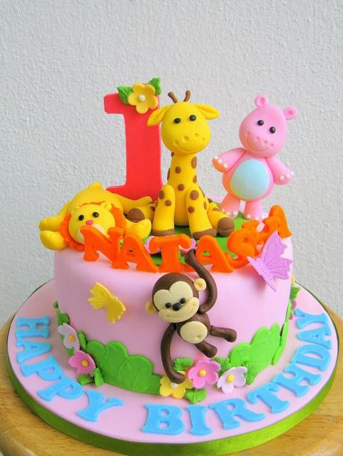 Animal Themed Girl Birthday Cakes