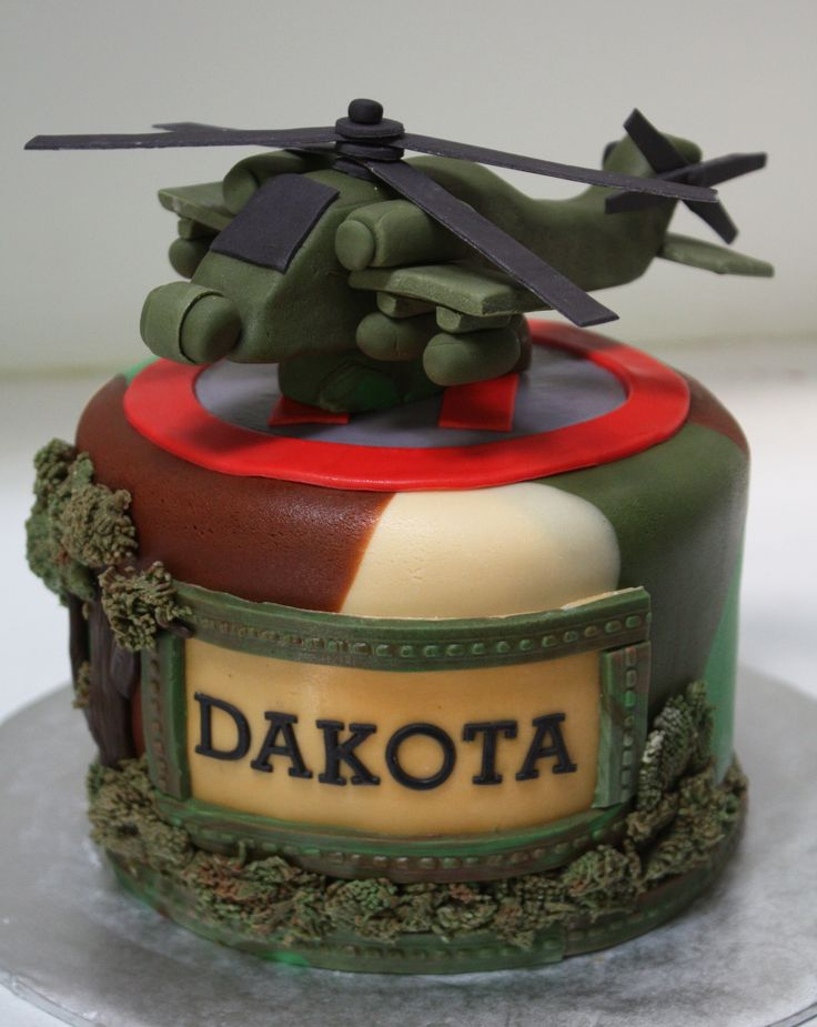 Apache Helicopter Cake