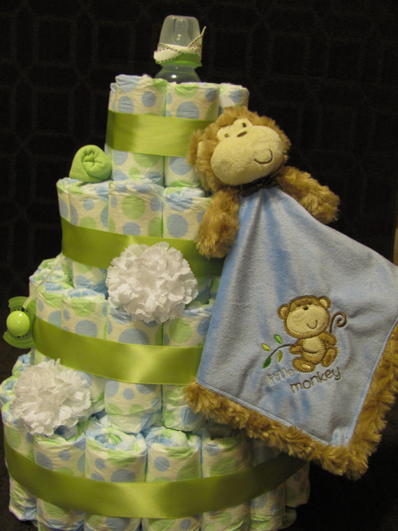 13 Photos of Baby Boy Monkey Diaper Cakes