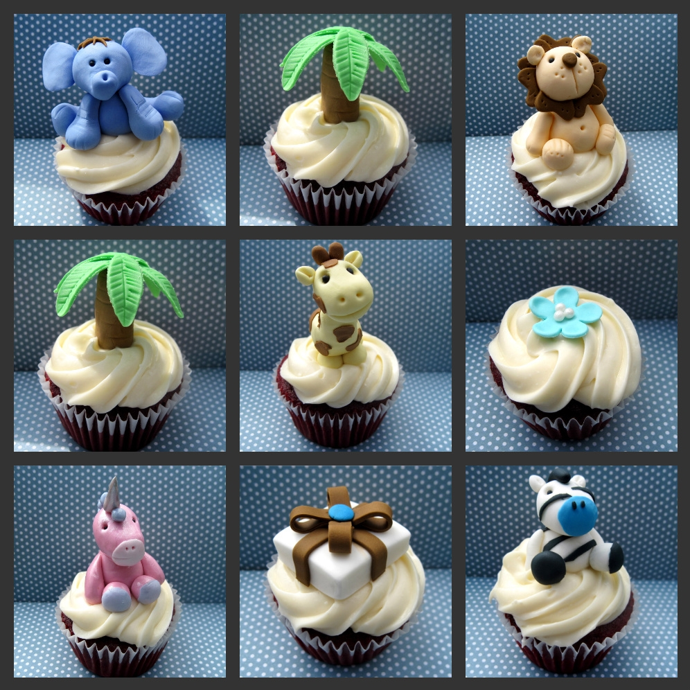 Baby Shower Cakes Jungle Animals Cupcakes