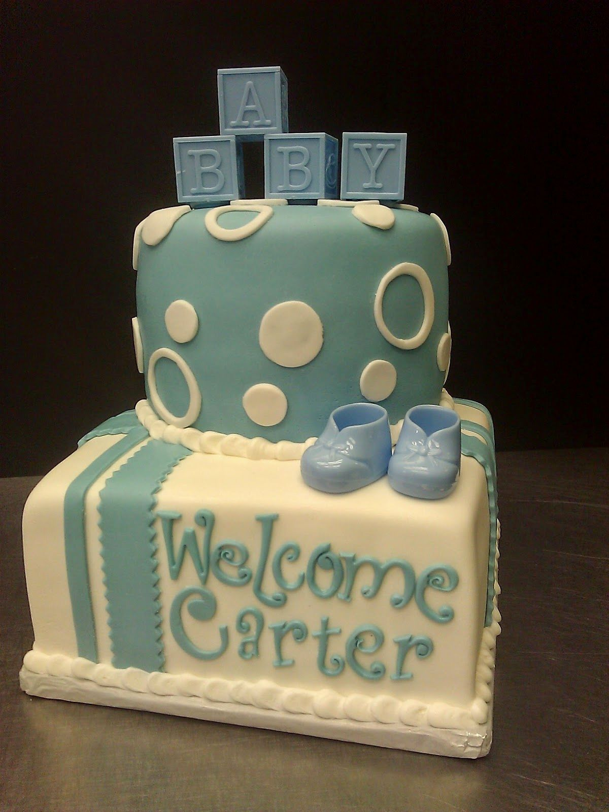Baby Shower Cakes without Fondant