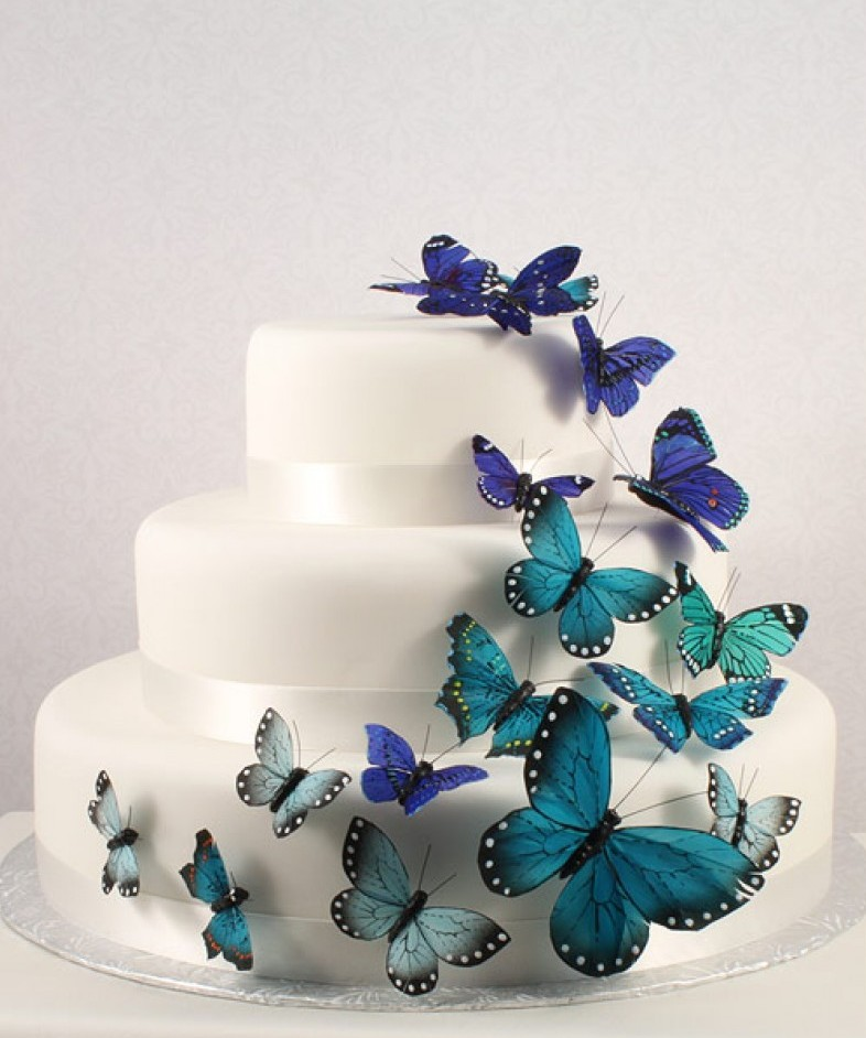Beautiful Butterfly Wedding Cake