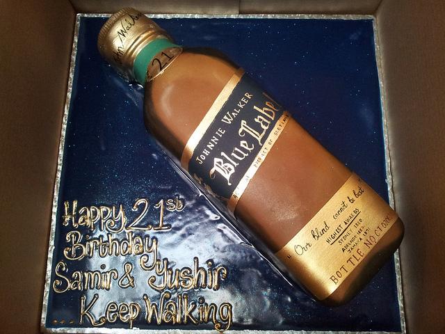 Birthday Cake Shaped Liquor Bottles