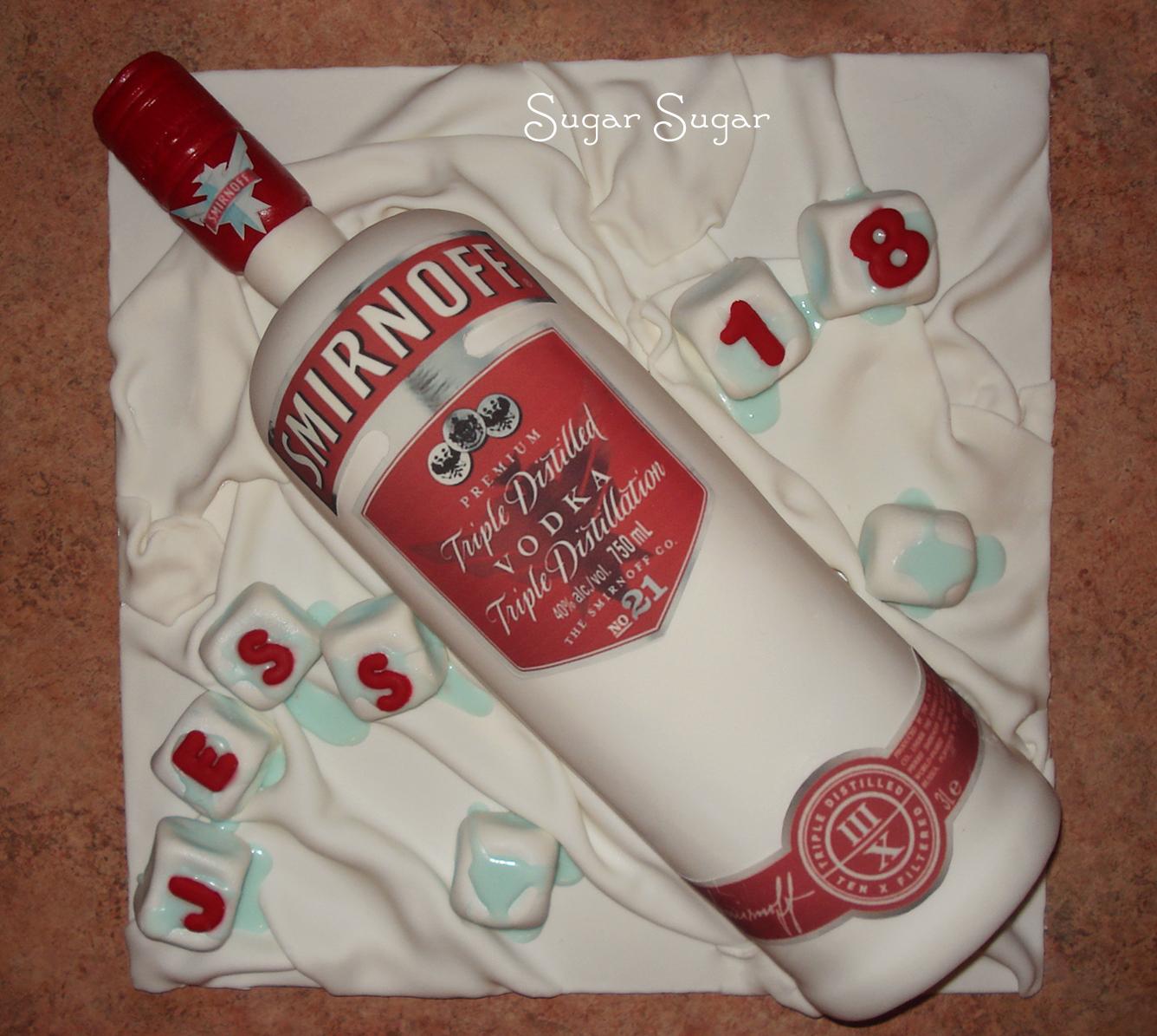 Birthday Cake Vodka Bottle