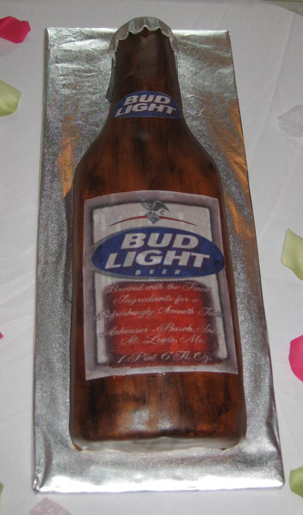 Bud Light Grooms Cake