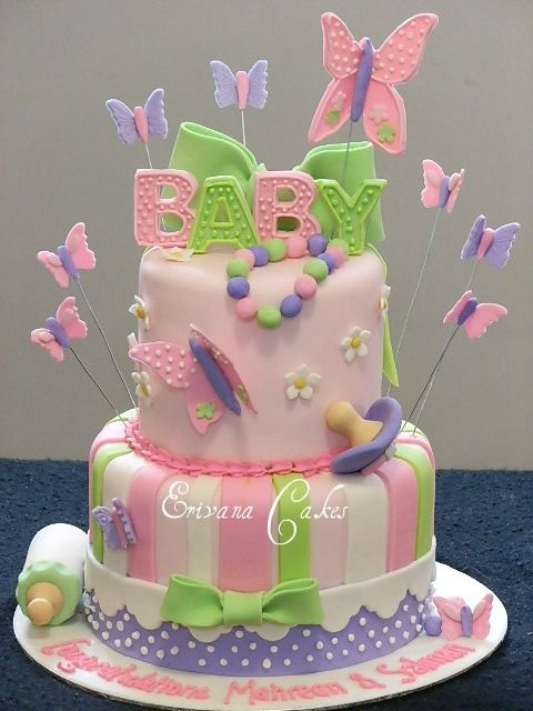 Butterfly Themed Baby Shower Cake