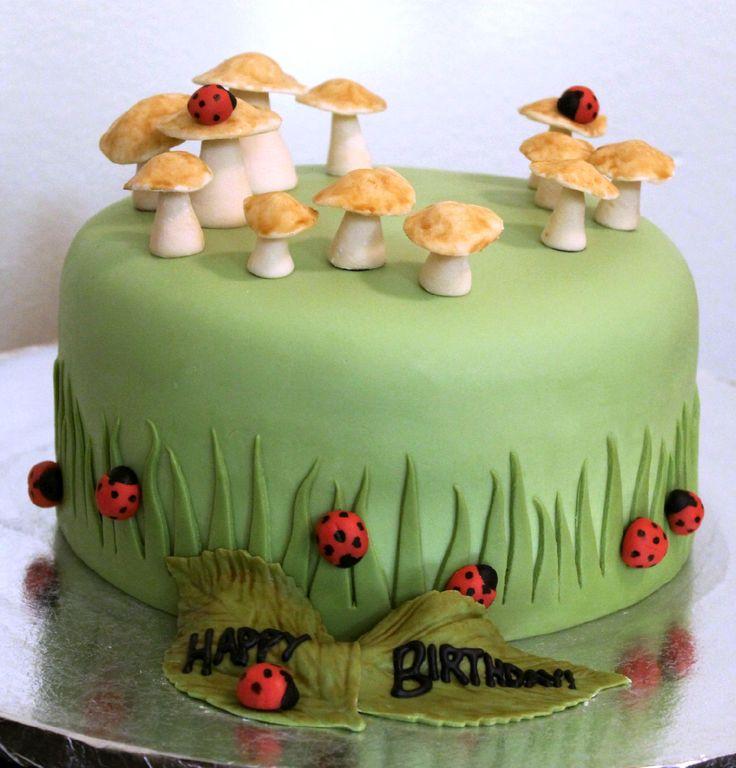 Cake Decorated with Marshmallow Fondant