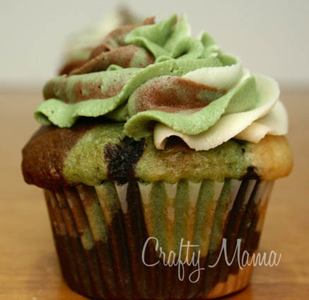 Camouflage Camo Cupcakes